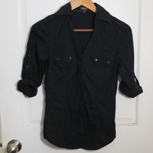 Express Adjustable Sleeve Button Down